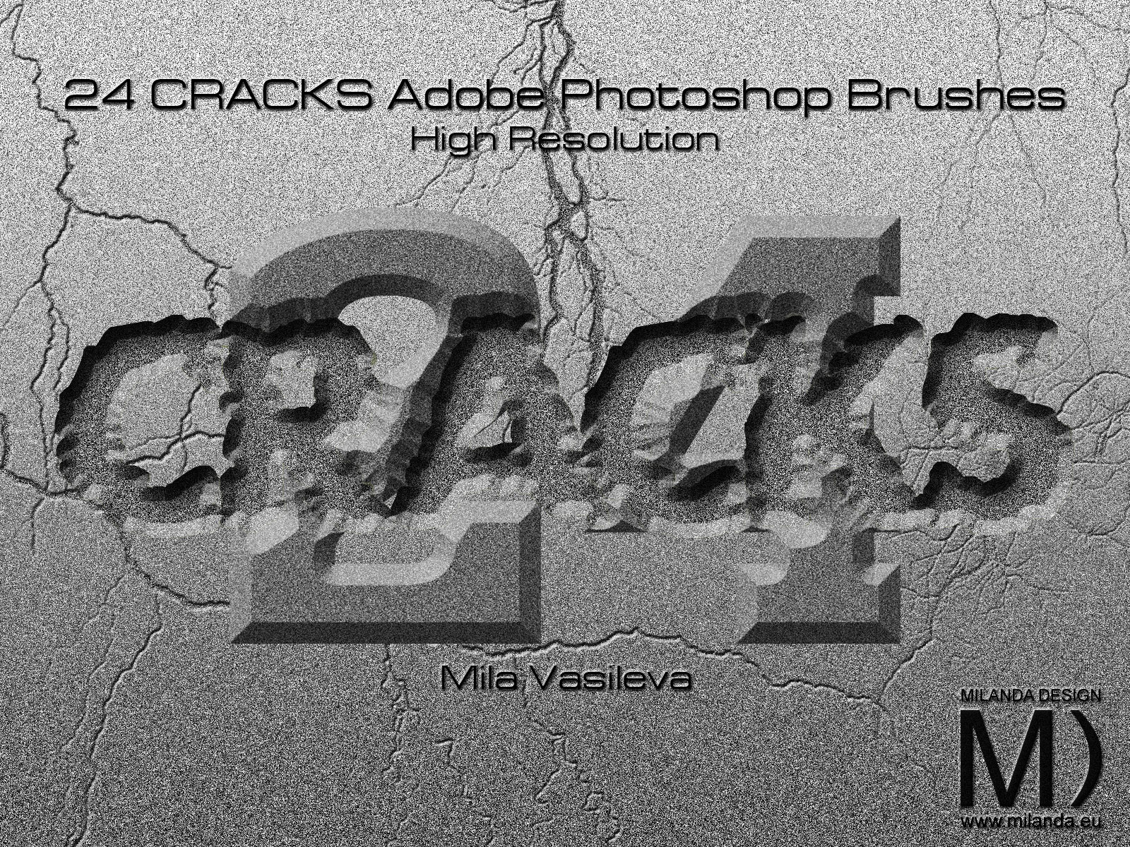 24 Cracks » High Resolution Adobe Photoshop Brushes » Milanda ...