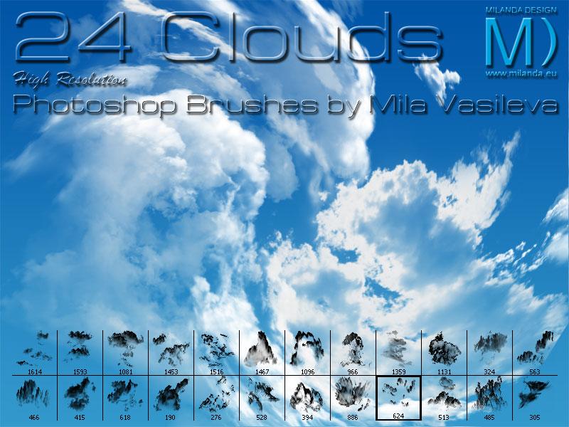 24 Clouds » High Resolution Adobe Photoshop Brushes » Milanda ...