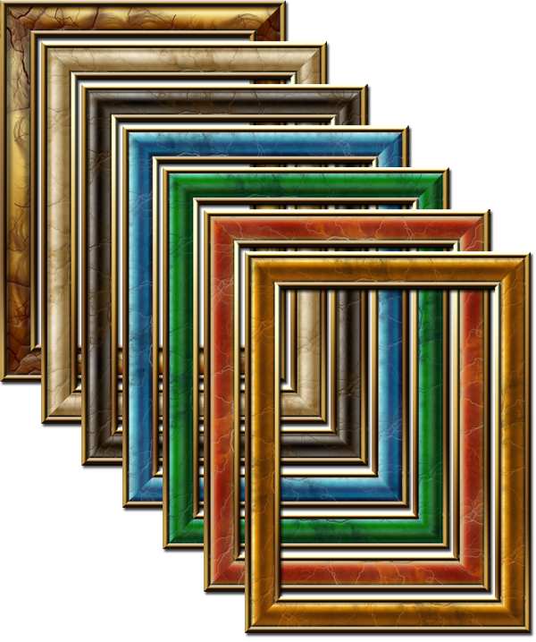 picture frame. 7 Gemstone Web Photo Frames